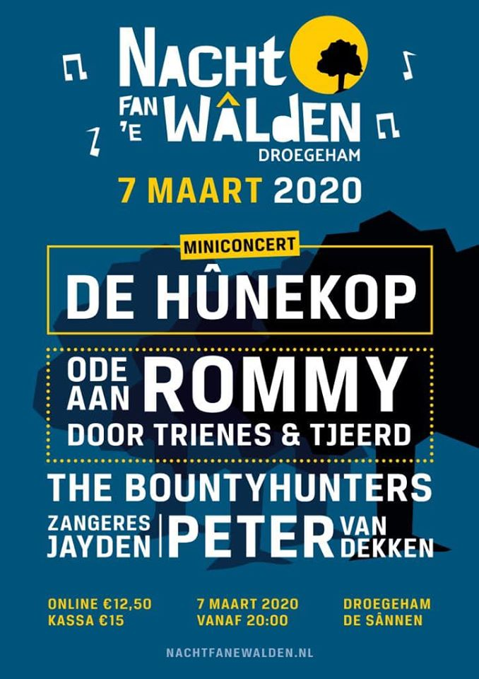 Nacht Fan De Walden | 7 maart 2020 | De Sannen Drogeham | Poster